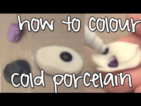 How to colour cold porcelain! *2 methods*