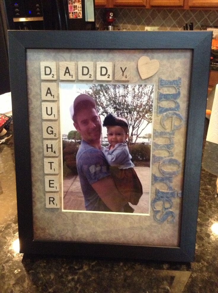 daddy/daughter scrabble tiles picture frame