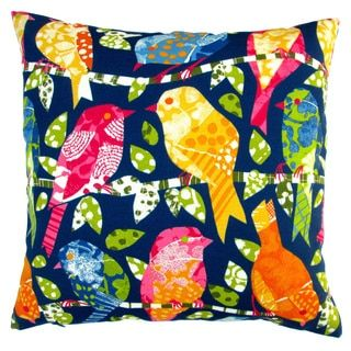 Shop for Artisan Pillows Indoor/ Outdoor 18-inch Kids Colorful Birds in Navy Blue Modern Contemporary Throw Pillow Cover (Set of 2). Get free shipping at Overstock.com - Your Online Home Decor Outlet Store! Get 5% in rewards with Club O!