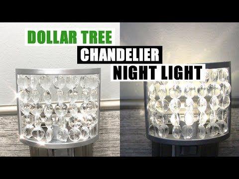 DIY DOLLAR TREE CHANDELIER NIGHT LIGHT DIY Glam Home Decor – YouTube