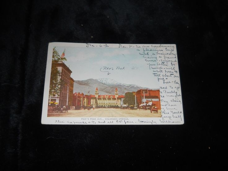 1905 Postcard up Pike's Peak Ave in Colorado Springs, CO - 1 Cent Card