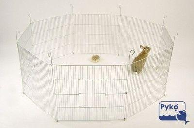 Płotek kojec zagroda wybieg - 54x52cm -8 elementów