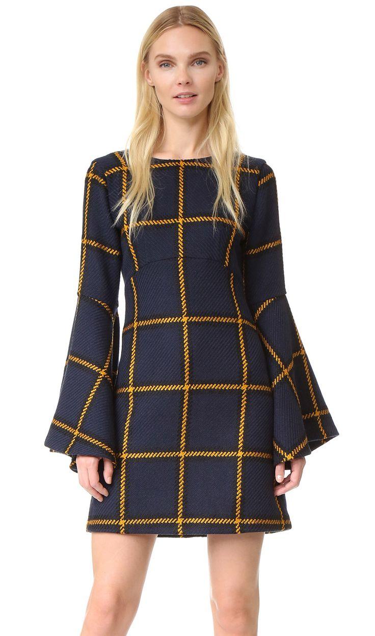 JOURNE Long Sleeve Tartan Dress