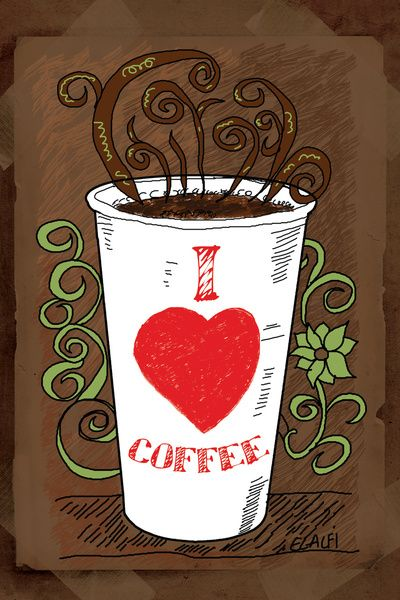 I LOVE COFFEE Canvas Print by Alaaelalfi
