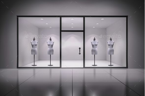 Store Interior With Mannequins