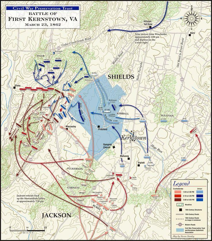 23 March 1862 - First Battle of Kernstown (near Winchester, Virginia) -  Casualties