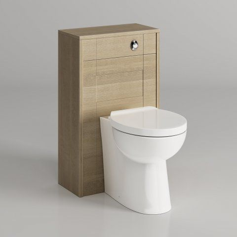 Oxford Gladstone Oak Effect Back To Wall Toilet Unit - Crosby II [PT-MV2929] - £299.99 : Platinum Taps & Bathrooms