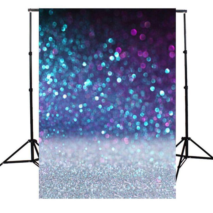 1.5x2.1M fotografie achtergronden Vinyl Glitter Purple Spot Achtergrond Studio Props