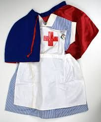 "Vintage Play Nurse's Uniform. I think these were very popular when ""Emergency Ward 10"" was showing on tv."