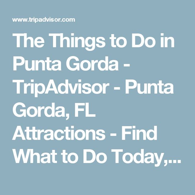 The Things to Do in Punta Gorda - TripAdvisor - Punta Gorda, FL Attractions - Find What to Do Today, This Weekend, or in February