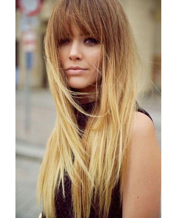 coiffure frange blonde