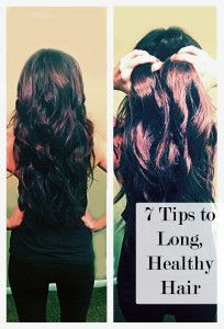 7 Tips to Long, Healthy Hair- what perfect hair she has!