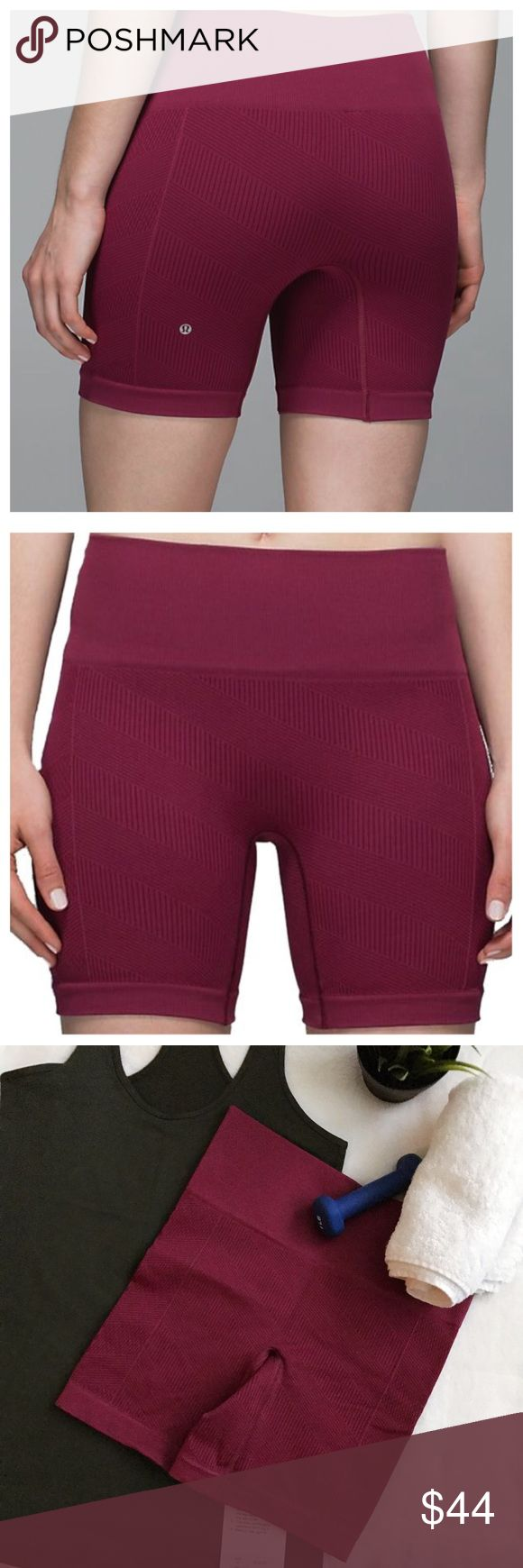 Lululemon Sculpt Shorts size 4 NWT burgundy First 2 images are stock All other images are of actual shorts for sale *price firm unless bundled 🚫trades 🚫modeling requests  🚫🅿️🅿️ 👍🏻Reasonable offers welcome! lululemon athletica Shorts