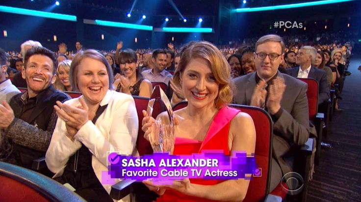 Sasha Alexander Accepting her PCA for Favorite Cable TV Actress 2016