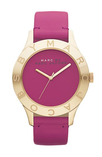 MARC BY MARC JACOBS 'Blade' Round Leather Strap Watch...LOVE IT!!