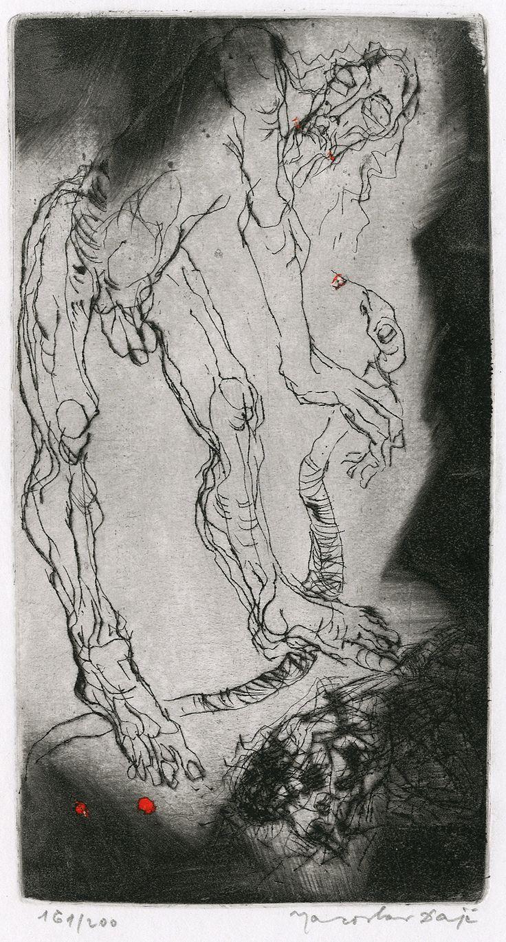 Jaroslav Dajč: Kristus v předpeklí (Christ in Limbo), 2. polovina 20. století