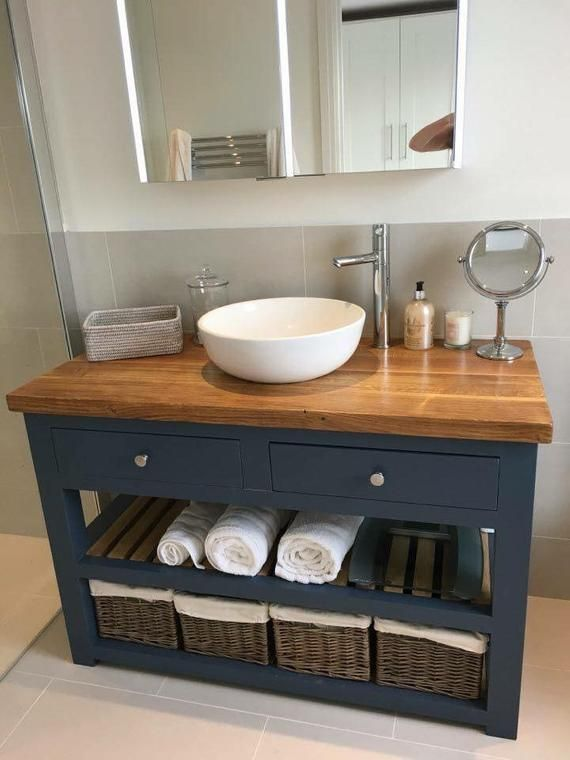 Our Stunning Vanity Units Are Handmade And Made To Order Meaning All Of What You See Can Be Tai Small Bathroom Sinks Oak Vanity Unit Modern Farmhouse Bathroom