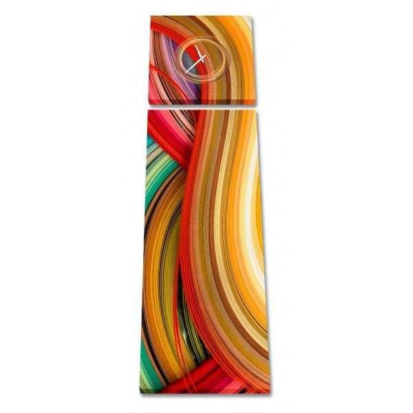 Zegar - obraz 4Art Colored Strips ◾ ◾ PrezentBox