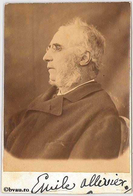 """Emile Ollivier, Paris. Imagine din colecțiile Bibliotecii """"V.A. Urechia"""" Galați."""