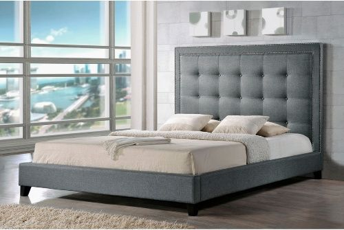Angelica Modern Platform Bed - Climb into contemporary luxury with the Angelica Modern Platform Bed. This beautiful handcrafted bed features durable hardwood construction and comfor...