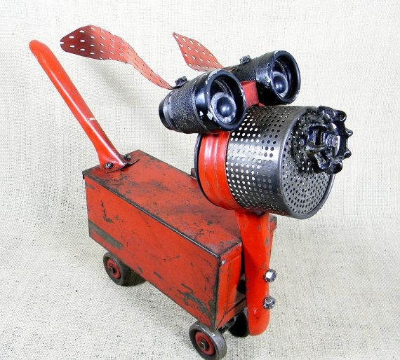 ZOOMZOOM  A Red Hot Robot Dog  Reclaim2Fame par reclaim2fame, $298,00