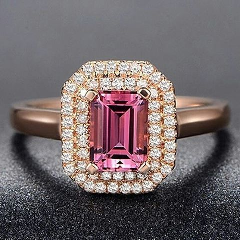 "22 Likes, 1 Comments - Suma Boutique (@sumagemboutique) on Instagram: ""1.40 Carats Natural Pink Tourmaline with Diamond 14K Solid Rose Gold Fine Ring  Main Stone : Stone…"""