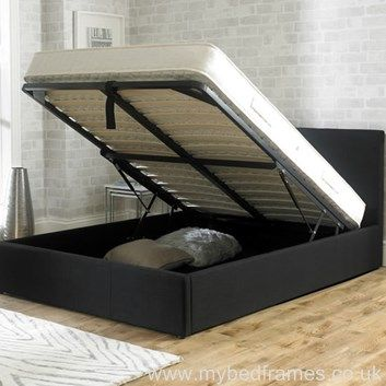 Stirling soft, black fabric #ottoman #bed