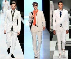 С чем носить мужские белые туфли