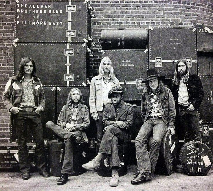 """Allman Brothers Band, At Fillmore East (1971) Is progressive blues a musical genre? If so, the Allman Brothers invented it on the group's landmark concert double-LP At Fillmore East. Slide-guitar sorcerer Duane Allman has long been singled out as the Allman Bros.' musical genius. But jazzy swing bassist Berry Oakley and drummers Butch Trucks and Jai Johanny Johanson on songs like """"One Way Out"""" gave Duane's and Dickey Betts' LP's guitars wings...."""