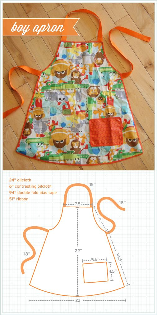 Boy Apron Pattern