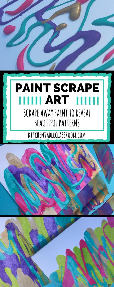 Paint scrape art doesn't take much in the way of materials.This processcan be as basic or sophisticated as you want it to. This activity is for everyone!