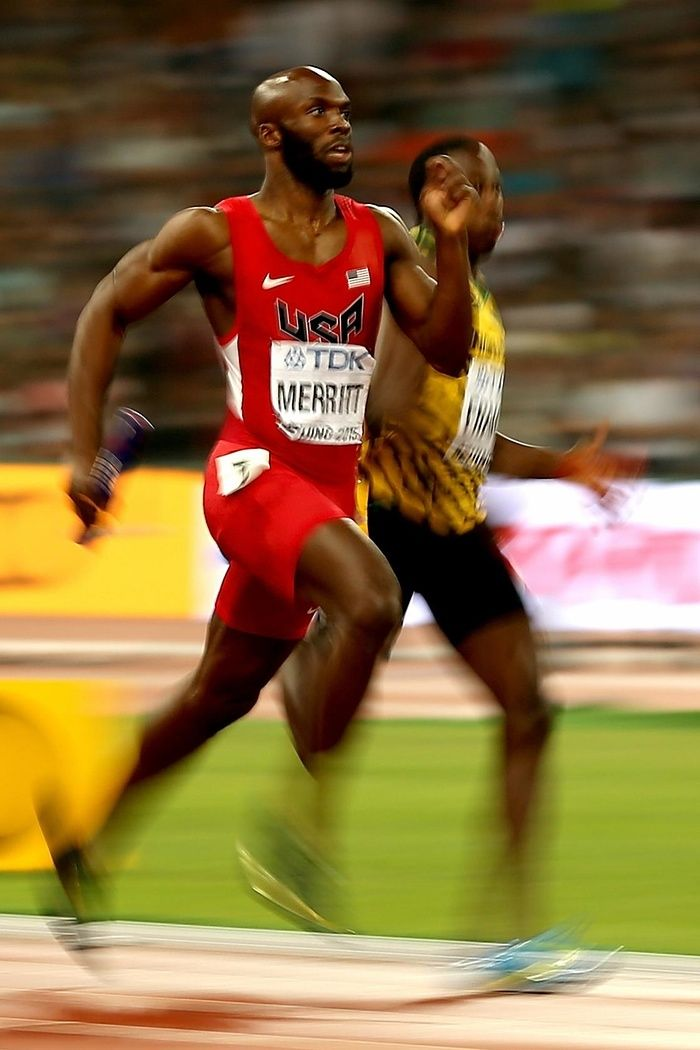 World Athletics Championships 2015: day nine – in pictures | Sport | Lashawn Merritt sprints to the line to clinch gold for the US in the men's 4x400 relay final