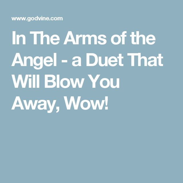 In The Arms of the Angel - a Duet That Will Blow You Away, Wow!