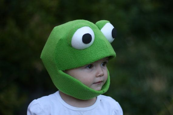 Frog Mask Child Size Small Medium and Large by JustZipity on Etsy, $40.00