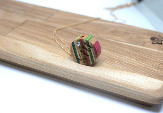 Recycled Skateboard Personalized Korean Initial by chansthinks