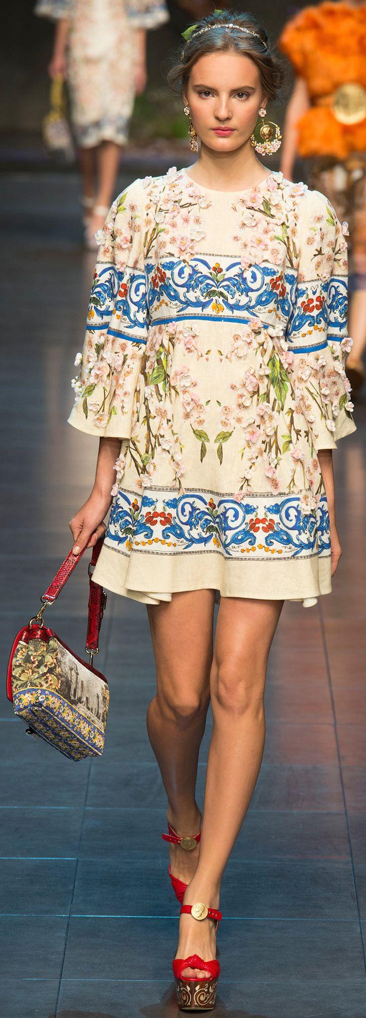#fashion #style Dolce & Gabbana spring