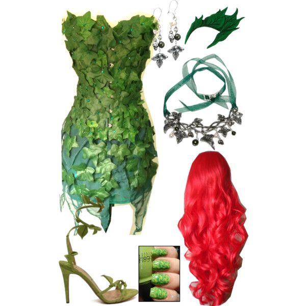 Oi meninas, vim mostrar como eu fiz minha fantasia de hera venenosa - Poison Ivy, vilã das histórias de Batmaaaan! Bom eu tinha um vestido...