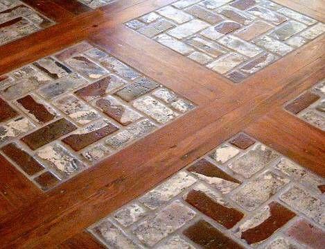 Mixing Brick Pavers With Hardwood Planks