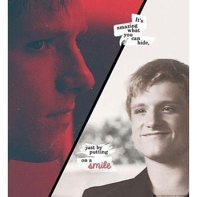 Oh Peeta. Just a bakers boy, turned into a broken man. He can hide so much with his smile. And his kind words.