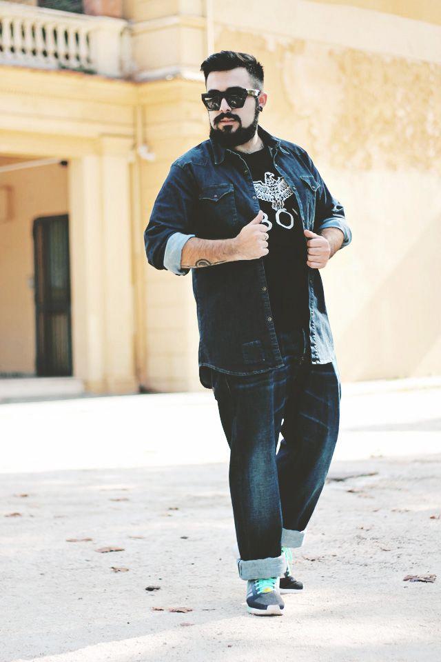 """Riccardo di Guy Overboard • Fashion Blogger ha scelto un total look denim by 2W2M: jeans """"Japan"""" e camicia """"Kuster"""""""