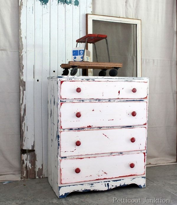 Red, white and blue chest from Petticoat Junktion