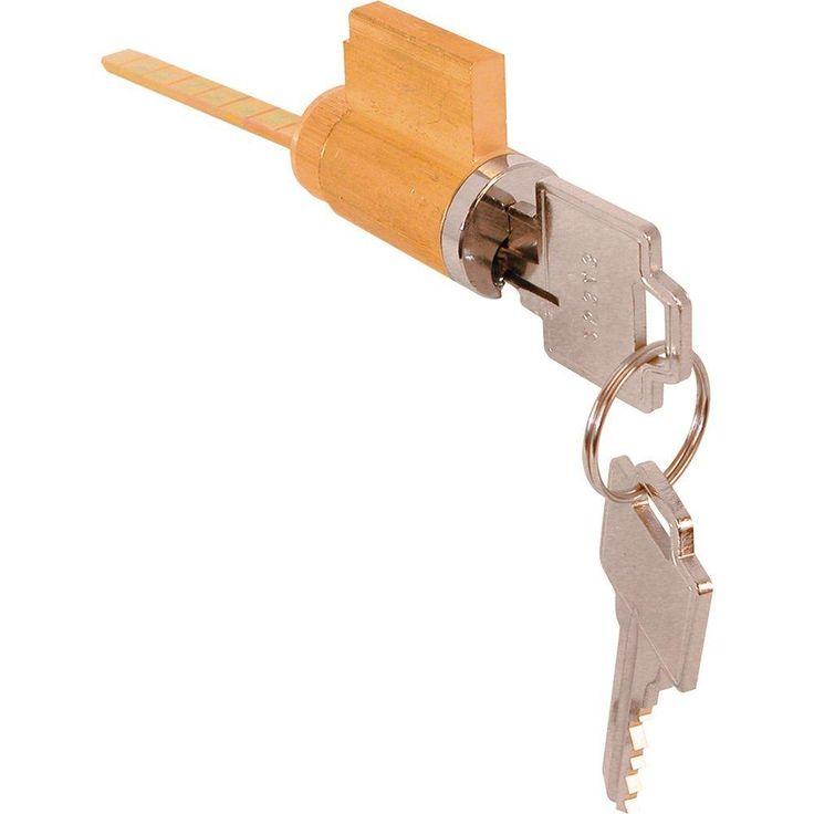 "Prime Line 1505 Solid Brass Cylinder Lock, 2-7/8"" Door Thickness"