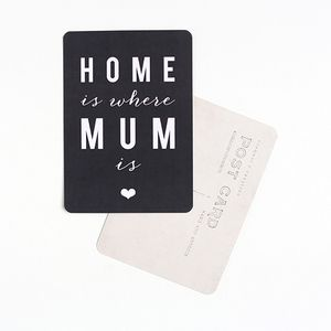 """Image of Carte Postale """"HOME is where MUM is"""" ARDOISE"""