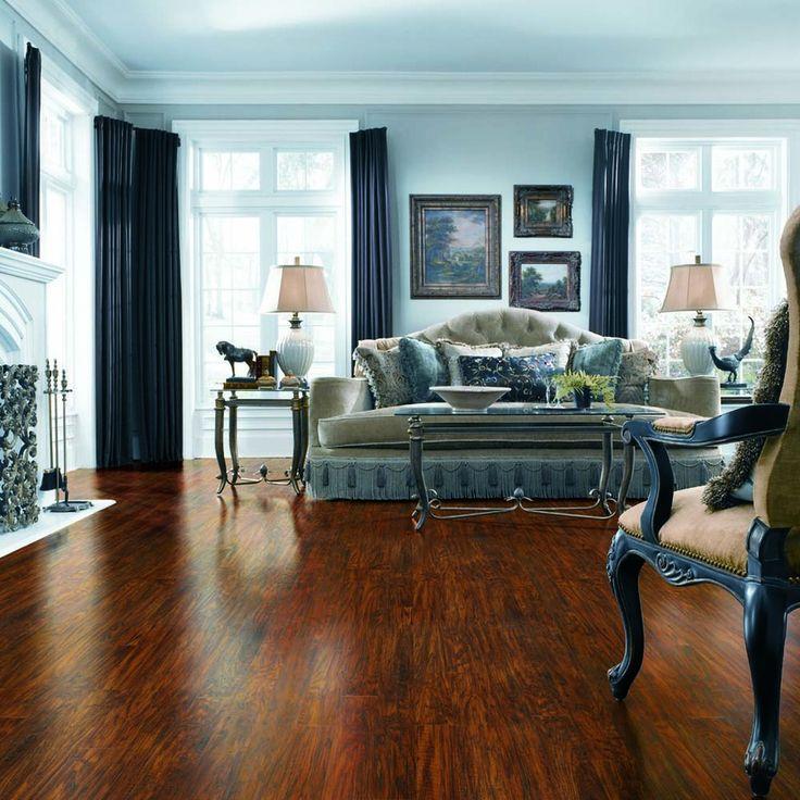 Handscraped Richland Hickory Laminate Flooring at Lowes.com $2.99sqft