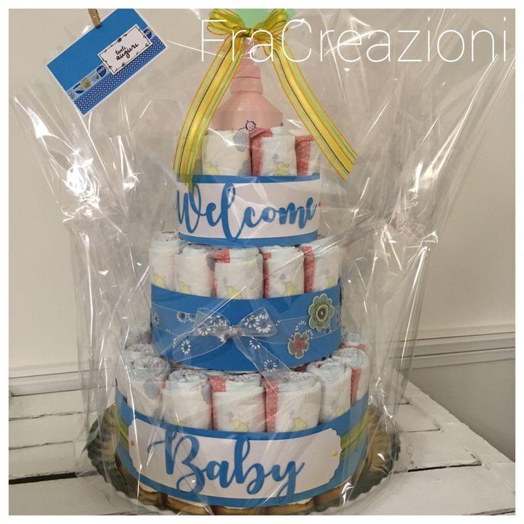 Torta Welcome Baby - https://www.fracreazioni.it/2017/05/28/torta-welcome-baby/