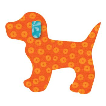 full size dog applique template