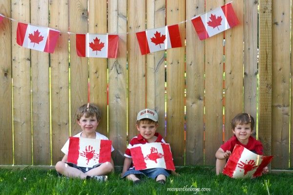 Canada Flag Handprint Painting