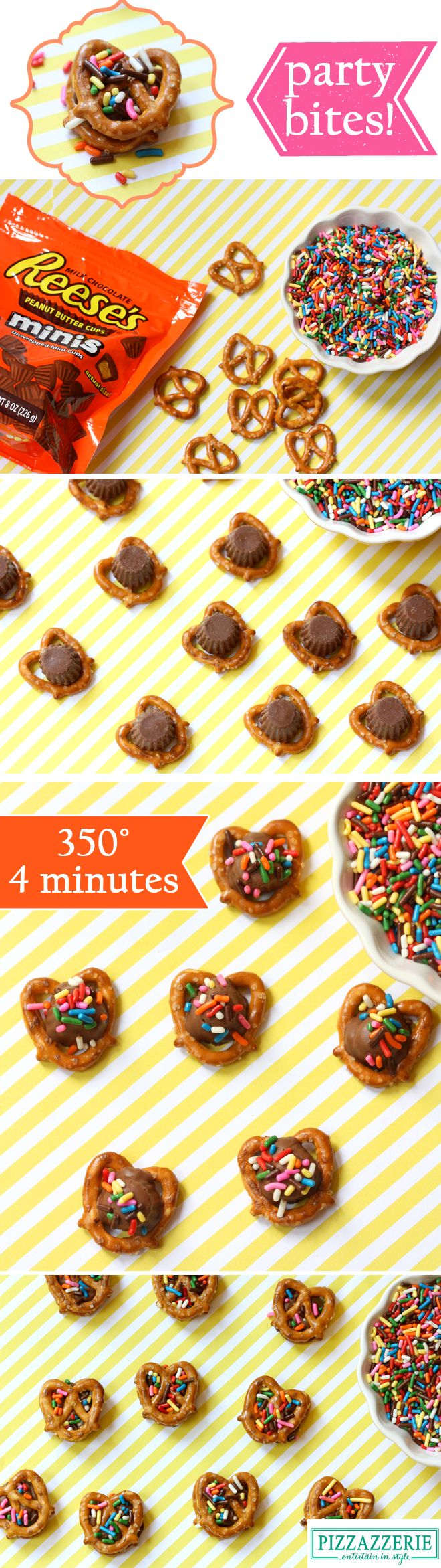 SAVE THIS EASY IDEA!!  EASY PARTY BITES: Chocolate Peanut Butter Pretzel Bites!