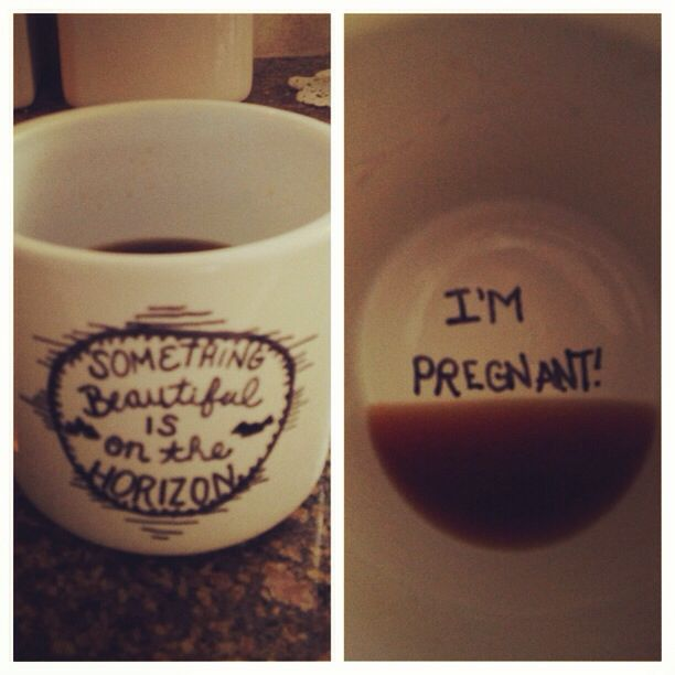 Baby announcement mug would be cute for the dad if he drinks coffee! So funny since he did this for the engagement.