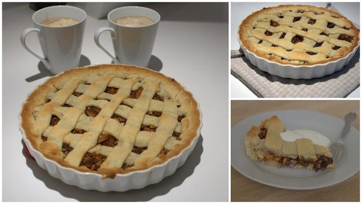 Æbletærte med kanel og mandler